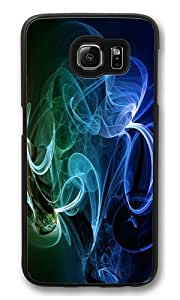 Rainbow Smoke abstract PC Case Cover for Samsung S6 and Samsung Galaxy S6 Black
