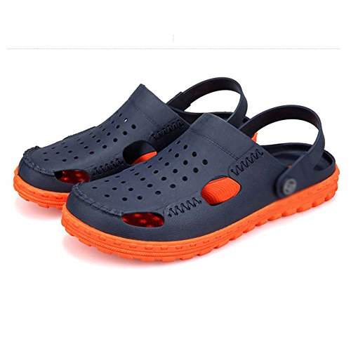 Sandals MAZHONG Men's Shoes And Slippers Men's Slippers Summer Non-slip Personality Beach Shoes Hole Shoes Wading Shoes (Color : A, Size : EU40/UK7/CN41) B