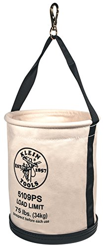 Klein Tools 5109S Number 6 Canvas Wide-Opening Straight-Wall Bucket KLT5109S