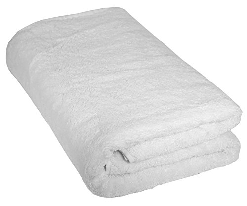 Turkish Bath Towel Luxury 100% Cotton European Quality Terry Warmer (White European Towel)