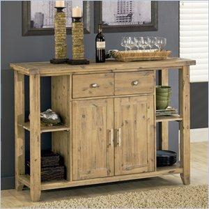 Modus Furniture 8FM273 Autumn Solid Sideboard, Reclaimed Wood - Glaze Wood Cabinets