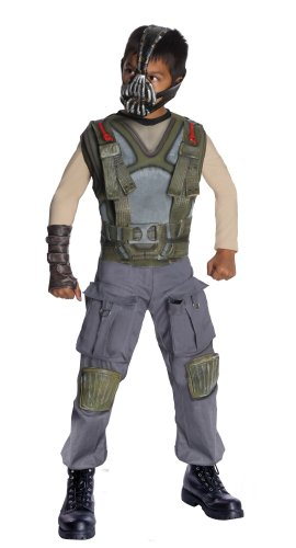 Batman Dark Knight Rises Child's Deluxe Bane Costume and Mask - Small Batman Child Molded Belt