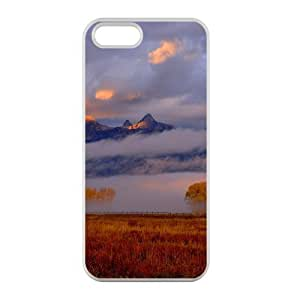 Welcome!Iphone 5/5S Cases-Brand New Design Mountain Fog Scenery Printed High Quality TPU For Iphone 5/5S 4 Inch -01 WANGJING JINDA