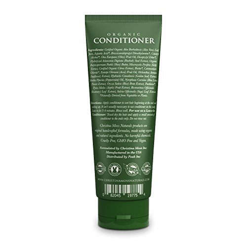 Conditioner, Organic and 100% Natural for All Hair Types (Dry, Oily, Curly or Fine). For Men and Women. Can Also Be Used As a Leave In. Sulfate Free. No Harmful Chemicals. By Christina Moss Naturals.