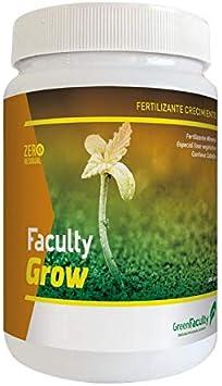 GreenFaculty Faculty Grow: Fertilizante Crecimiento Abono Estimulador. Polvo Soluble 500 g. Cero Residuos. Apto para Cultivo Medicinal