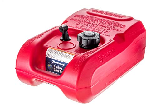Attwood Corporation 8803LP2 EPA and CARB Certified 3-Gallon Portable Marine Boat Fuel Tank, Red, 3 - Fuel Tanks Attwood