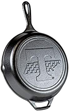 Lodge Cast Iron 10.25 inches University of Tennessee Skillet. Ergonomic, Heat Treated, and Pre-Seasoned Cast Iron Skillet with Assist Handle Made in the USA