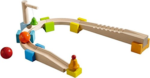 HABA My First Ball Track - Basic Pack Chatter Track 14 Piece Building Set (Made in Germany)