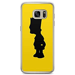Loud Universe bart Simpson Shape Samsung S7 Edge Case The Simpsons Samsung S7 Edge Cover with Transparent Edges