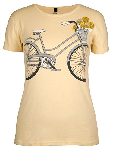 Tee Bicycle - Green 3 Women's Floral Bicycle Tee Yellow XXLarge