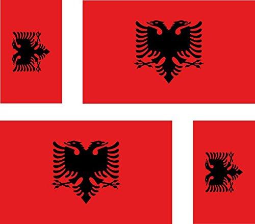 Motivo: Bandiera dellAlbania Albanese 4 x per Auto Adesivi Valigia per pc Portatile Moto
