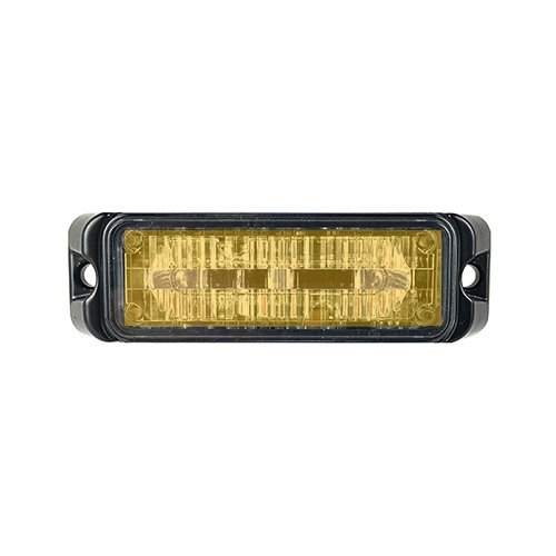 Abrams Flex Series (Amber) 9W - 3 LED Tow Truck Snow Plow Construction Vehicle LED Grille Light Head Surface Mount Strobe Warning Light]()