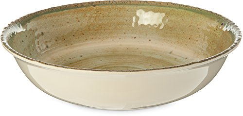 Carlisle GA5500570 Gathering Large Melamine Serving Bowl, 154 oz. Capacity, Adobe