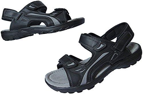 Herren Sandalette Outdoorsandale Schuhe Trekking Sandale gr.41 - 46 nr.9328 schwarz