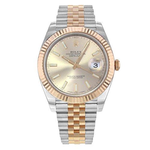 Rolex Datejust 41 Sundust Dial Steel and 18K Everose Gold Mens Watch 126331SNSJ from Rolex