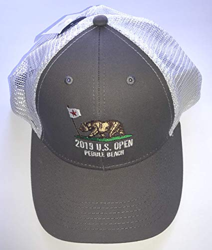 2019 U.S. Open trucker hat pebble beach golf california bear logo mesh back new pga ()