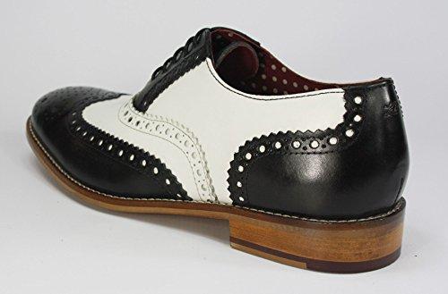 Lacets Homme Noir London à de Blanc Chaussures Ville pour Brogues q7XRwXg