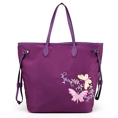 YJIUX Womens moda clásica bolsa Crossbody,Azul marino Purple