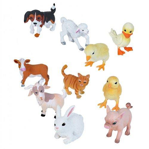 Piece Pig 10 (Wild Republic Farm Babies Figurines Tube, Duck, Kitten, Puppy, Calf, Goat Kid, Lamb, Chicks, Bunny, and Piglet, Ten Piece Farm Set)