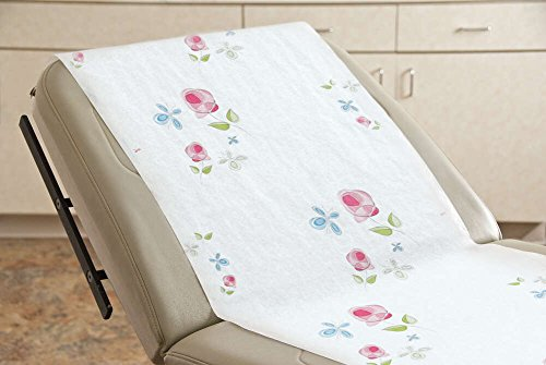 Graham Medical 46845 Rose Garden Smooth Table Paper, 21