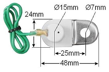2x KFZ T/ürkontakt Schalter 42mm /Öffner T/ürkontaktschalter Universal Alarmanlage