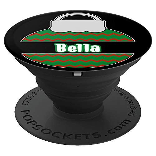 Bella Personalized Monogram Name Christmas Ornament Gift - PopSockets Grip and Stand for Phones and Tablets
