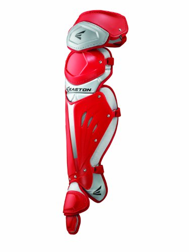 Easton MAKO Leg Guard, Red, Adult