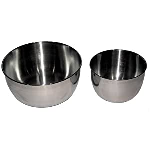 Stainless steel bowl set for Sunbeam & Oster mixers