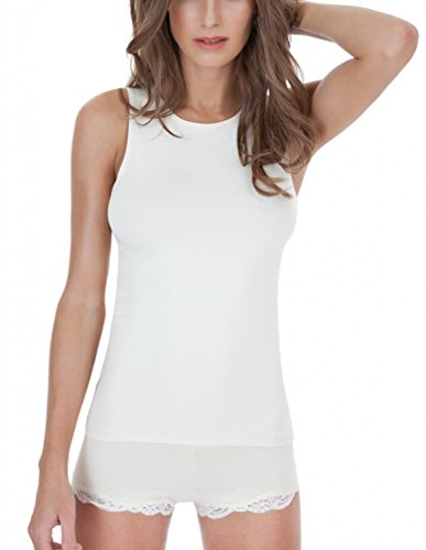 Delicious Cutaway Tank, Crème, Small (Heart Camisole)