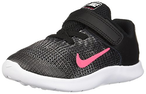 Nike Toddler Flex RN 2018 (TDV) Black Racer Pink White Size 4 (Nike Pink Baby Shoes)