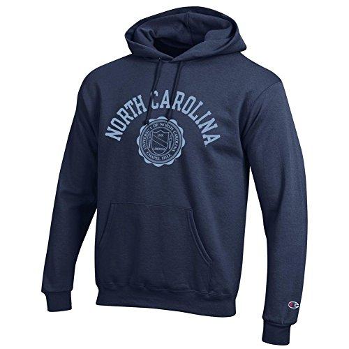 Elite Fan Shop North Carolina Tar Heels Hooded Sweatshirt Seal Navy - L