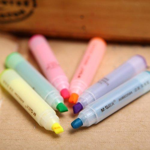 Youarebb Cute Ninja Fluorescent Mini Highlighter Pen Marker 6 Color