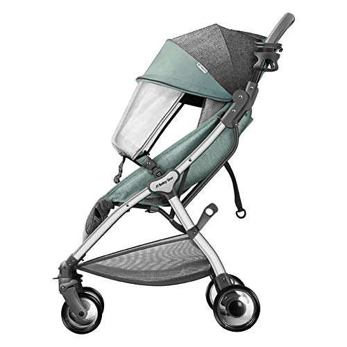 AMENZ Strollers,Trolley,Trolley Cot,Twin Pushchair, Compact Travel System,Cover Highly, Pram to Create a Convenient,Anti-Scratch, for Newborn and Toddler – Green A