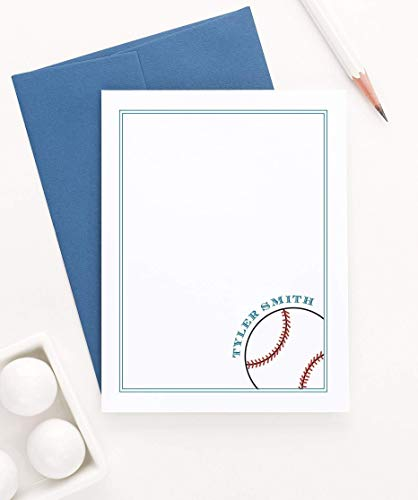 Baseball Personalized Stationery set, Boys Personalized Baby Shower Thank You Card, Baseball Stationery, Personalized Thank You Cards Kids, Your Choice of Colors and Quantity