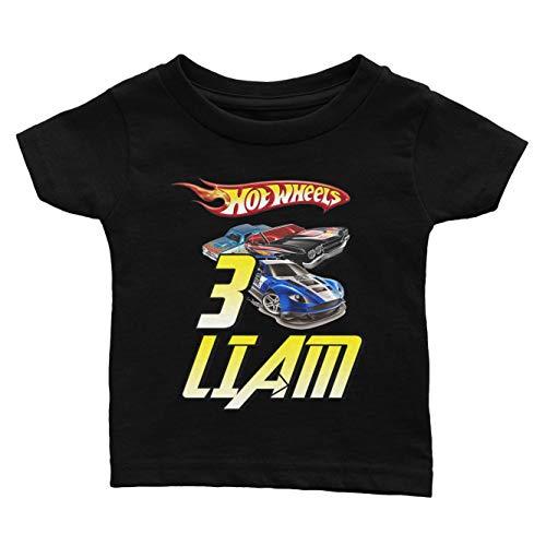 (Personalize Hot Wheels Birthday Shirt)