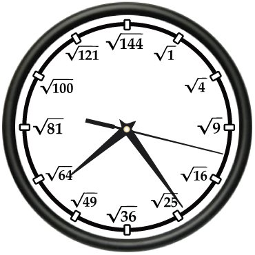 Amazon Com Square Root Wall Clock Math Teacher Calculator New T