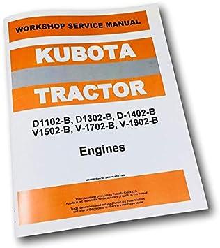 Amazon.com: Kubota L2402 Tractor D1402 Manual de servicio de ...