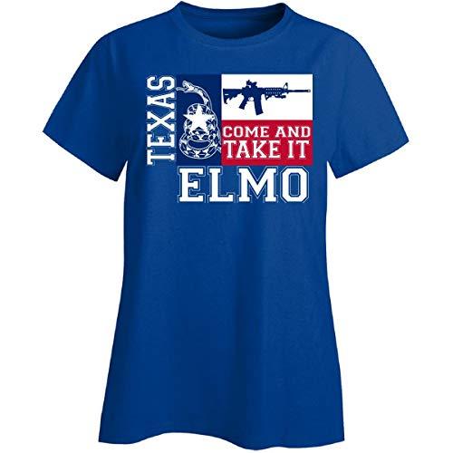 Elmo Texas Come and Take It Ar15 - Ladies T-Shirt Ladies L - Birthday T-shirt Elmo Personalized