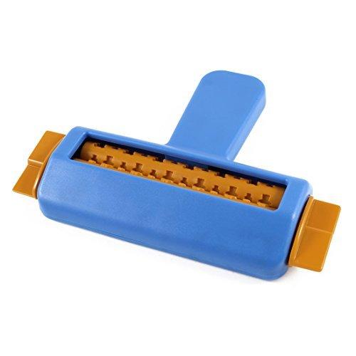 - DealMux Cartoon Pattern Plastic Paper Hand Craft Crimper Embosser Orange Blue