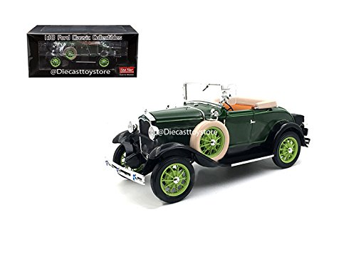 - BRAND NEW DIECAST 1:18 FORD CLASSIC COLLECTIBLES - 1931 FORD MODEL A ROADSTER (BREWSTER GREEN) SS6123 BY SUN STAR