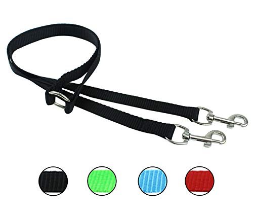 Ocean Hands Free Double Ended 3.5 Foot Leash for Small Dogs and Puppies (Onyx Black) ()