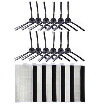 BLUELIRR Lateral y filtro de repuesto cepillo Kit para ILIFE A6 A4 A4s vacío Robot limpiador #29692: Amazon.es: Hogar