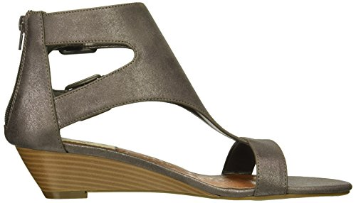Demi Sandal Sugar bar Open Buckle Metallic Toe Pewter Wigout T Womens' Wedge 4x4nRE6q7