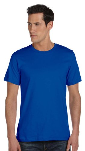 Bella + Canvas Unisex Made In The Usa Jersey Short Sleeve Tee (True Royal) (Essential Ringspun Pique Shirt)