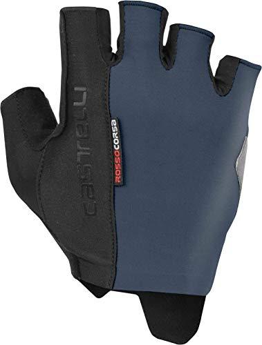 Castelli 2019 Rosso Corsa Espresso Cycling Gloves - K19026 (Dark Steel Blue - M) ()
