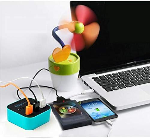 Easy Plug Easy Plug 2 in 1 USB 2.0 M2 // TF//SD//MMC//MS//MS PRO Duo Card Reader /& 3-Port HUB Color : Black Black
