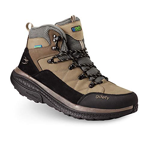 Gravity Defyer Men's G-Defy Sierra Hiking Shoes 10.5 W US-Best Hiking Boots Foot Pain, Knee Pain, Back Pain, Plantar Fasciitis Shoes Brown