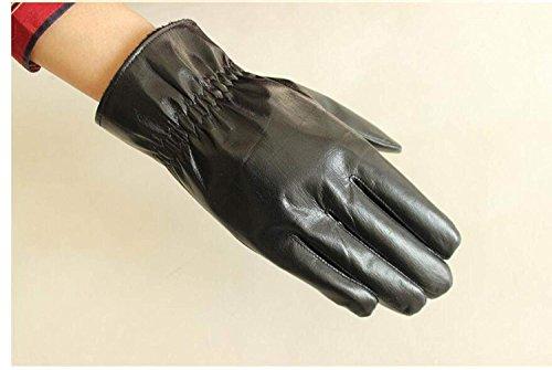 CWJ Men's Gloves Thick Drive Car Ride Warm,Black,One Size by CWJ (Image #4)