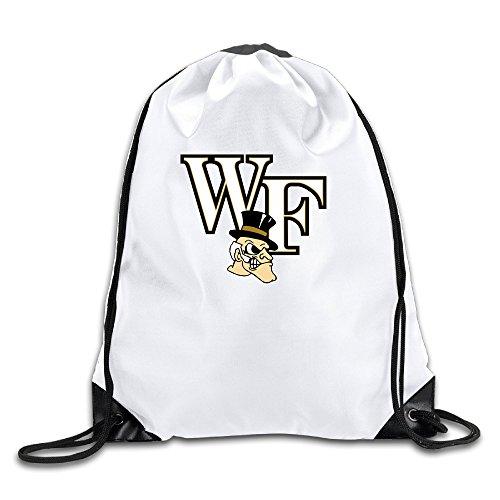 Wake Forest University Men's Women's Shoulder Drawstring Bag Backpack String Bags School Rucksack Gym Handbag