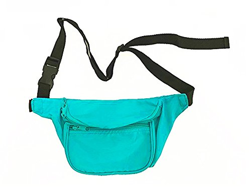 80s / 90s Style Waist Pack by BAM in teal